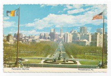 Philadelphia PA Panorama Skyline Eakins Oval Parkway City Hall Vintage Postcard 4X6