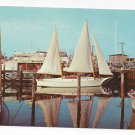 Cape May NJ Marina Sailboat Vintage Curteich 1954 Postcard Boat