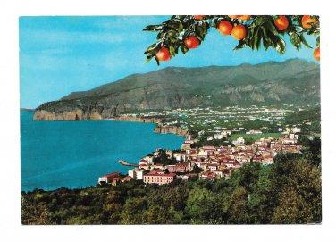 Italy Sorrento Panorama View from Villa Parisi Vtg 4X6 Postcard