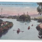 San Francisco Bay CA Golden Gate Park Boating Stow Lake Vntg Hand Tinted PNC Postcard SF 357