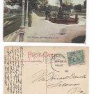 Sc 328 Jamestown lebanon Flag Cancel Reading duplex 1907 Deer Fountain Postcard