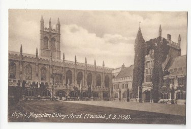 UK Oxford University England Magdalen College Quad Vtg Frith's Postcard Quadrangle