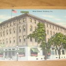 Vintage Hotel Edison Sunbury Pennsylvania Postcard