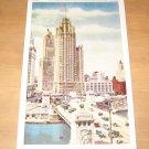 Vintage Tribune Tower And Michigan Ave Bridge Chicago Postcard