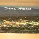 Vintage Tucson Arizona At Night Postcard
