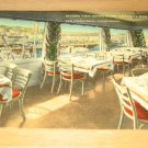 Vintage Marine View Dining Room Vista Del Mar Restaurant Postcard