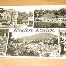 Vintage Baden Baden Germany Postcard