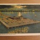 Vintage Million Dollar Recreation Pier By Night St Petersburg FL Postcard