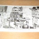 Vintage Sutter's Office Sutter's Fort Historical Museum Sacramento, CA Postcard