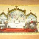 Vintage Interior St Anne's Catholic Church Postcard