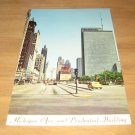 Vintage Michigan Ave And Prudential Building Chicago Illinois Postcard