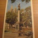 Vintage The Sea Gull Monument Temple Square Salt Lake City Utah Postcard