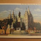 Vintage The Pioneer Monument Salt Lake City Utah Postcard
