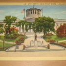 Vintage State Capitol And McKinley Memorial Columbus Ohio Postcard
