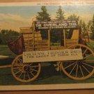 Vintage Overland Trail Stage Coach Cheyenne Wyoming Postcard