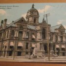 Vintage Hancock County Court House Findlay Ohio Postcard