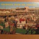 Vintage Fisherman's Wharf San Francisco CA Postcard