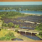 Vintage Current River Dam Ontario Canada Postcard