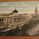 Vintage National Gallery Trafalgar Square London Postcard
