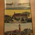 Vintage Morecambe Promenade, Heysham Cottage & Rough Sea UK Postcard
