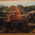 Vintage Making Charcoal At Jack Daniel's Distillery Lynchburg Tennessee Postcard