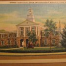 Vintage Warren County Court House Front Royal Virginia Postcard