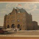 Vintage Post Office Ft. Worth Texas Postcard