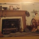 Vintage Log Cabin Ohio State Museum Columbus Ohio Postcard