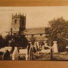 Vintage Prestbury Church Cheshire England UK Postcard