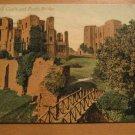 Vintage Kenilworth Castle And Rustic Bridge UK Postcard