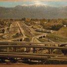 Vintage The Junction Of The San Bernardino & Long Beach Freeways California Postcard