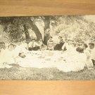 Vintage Family Picnic Real Photo Postcard