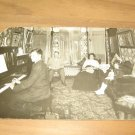 Vintage Family In Victorian Living Room Photo Postcard