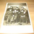 Vintage 6 Men Posing In Log Cabin Photo Postcard