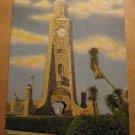 Vintage Clock Tower Daytona Beach Florida Postcard