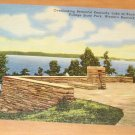 Vintage Overlooking Beautiful Kentucky Lake At Kentucky Dam Postcard