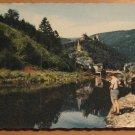 Vintage Vianden LOur et el Chateau Luxembourg Postcard