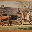Vintage Century Old Carriages Old Sturbridge Village Postcard