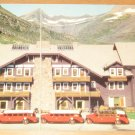 Vintage Swiftcurrent Peak From Many Glacier Hotel Montana Postcard