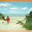 Vintage Dunes And Ocean At Jekyll Island State Park Jekyll Island GA Postcard
