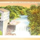 Vintage Old Mill And Falls Mill Creek Park Youngstown OH Postcard
