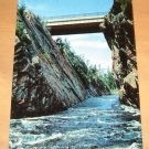 Vintage Trans Canada Highway Crosses Montreal River Postcard