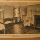 Vintage George Washigton's Bedroom At His Moms House Postcard