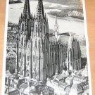 Vintage Der Kolnec Dam Fliegeraufnahme Cologne Germany Cathedral Postcard