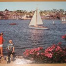 Vintage Newport Harbor California Postcard