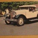 Vintage Franklin 1926 Boatail Roadster Postcard