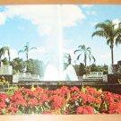 Vintage Italian Fountain Cypress Gardens Florida Postcard