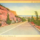 Vintage Along The Palisades California Postcard