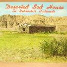 Vintage Deserted Sod House In Nebraska Badlands Postcard