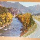 Vintage Gallatin Canyon Montana Postcard